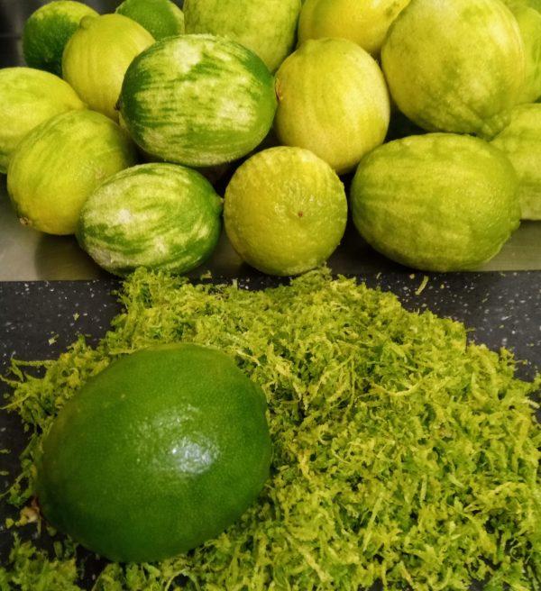 citron vert zeste